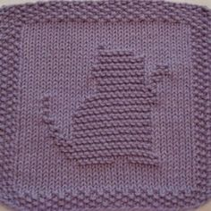 Free Downloadable Knit Dishcloth Patterns | Kitty Playing Knit Dishcloth Pattern - Designs by Emily