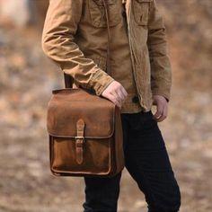 Handmade Leather Mens Cool Backpack Sling Bag Large Travel Bag Hiking Bag for men Men's Backpack, Leather Backpack, Cool Messenger Bags, Handmade Gifts For Men, Hiking Bag, Handbag Stores, Side Bags, Cool Backpacks, Custom Bags