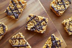 Healthy Rice Krispie Treats! No marshmallows, no butter, but just as delicious as the original || runningwithspoons.com #glutenfree #dairyfr...