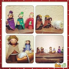 Nespresso Pod Nativity scene. #Christmas @nespresso K Cup Crafts, Easy Crafts, Arts And Crafts, Family Christmas, Christmas Holidays, Xmas, Red Hats, Diy, Projects