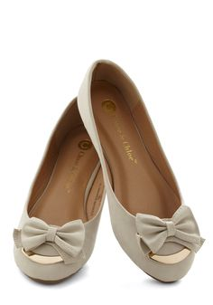 Put a Bow on It Flat. Want a simple way to doll up your work wardrobe and casual looks? #tan #modcloth