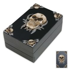 Hinged Skull Treasure Box Gothic Decor SCA Garb fnt | eBay
