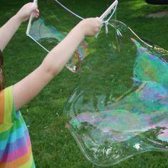Fabrication de bulles géantes