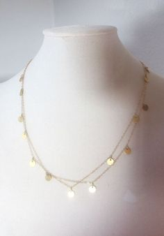 Gold Cougar Town Necklace Courtney Cox Jules by PinkSkyJewelry, $43.90