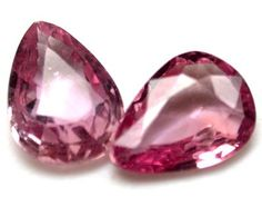 PAIR  QUALITY PINK SAPPHIRES 1.15 CARATS RO839  NATURAL  SAPPHIRE PAIR GEMSTONE FROM  GEMROCKAUCTIONS.COM