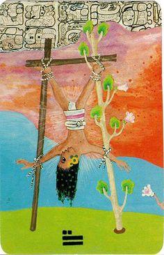 The Hanged Man - Xultun Tarot Hanged Man Tarot, The Hanged Man, Tattoo Prague, Sacred Art Tattoo, Playing Cards Art, Epic Of Gilgamesh, Online Tarot, Tarot Major Arcana, Oracle Tarot
