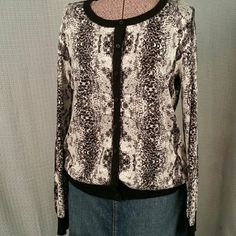 Covington Cardigan Animal Print Very soft cardigan.  Great condition.   Size L Covington Sweaters Cardigans