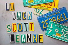 HGTV.com shows you how to repurpose colorful old license plates into handy magnets for your fridge or message board.