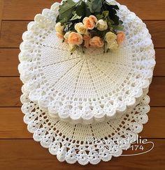 - Her Crochet Crochet Circles, Crochet Round, Crochet Home, Love Crochet, Knit Crochet, Crochet Rug Patterns, Beading Patterns Free, Crochet Designs, Crochet Placemats