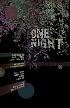 one night poster v2 by iwearbrown, via Flickr