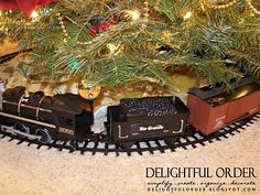 Choo, choo! Don't forget the train! This favorite childhood pastime provides a finished look to your tree and an interactive element that children and guests will enjoy.