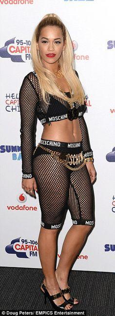 Rita Ora backstage at the Capital FM Summertime Ball, Wembley Stadium, London