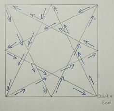 Eight Pointed Star: A Continuous Line Quilting Motif