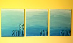 DIY Home Decor : DIY ombre wall art