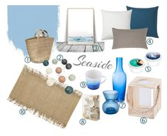 Seaside style by planyourspace on Polyvore featuring interior, interiors, interior design, dom, home decor and interior decorating