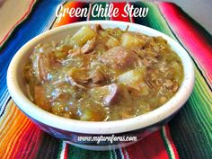 The Best New Mexico Hatch Green Chile Stew: This is a delicious New Mexico Green Chile Stew or Chile Verde recipe. This Green Chile Pork Slow Cooker Stew is easy and is a comfort for the soul. Green Chili Pork Stew, Green Chile Stew, Green Chili Recipes, Mexican Food Recipes, Soup Recipes, Mexican Dishes, Hatch Green Chiles, Travel, Kitchens