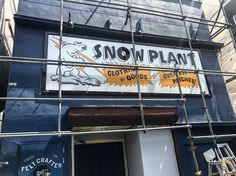Opening soon.... Snow Plant Store. (north no name, felt patch, hand made)