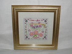 Handmade Counted Cross Stitch 'Time For a Cuppa' £15.00