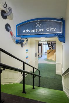 Children's Museum of Cleveland Interior Design And Graphic Design, Graphic Design Services, Children's Museum, Cleveland, Portal, Signage, Adventure, Mansions, City