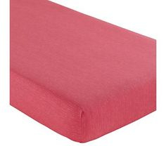 $29 Land of Nod Baby Sheets: Pink Crib Fitted Sheet