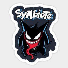 Symbiote - Gengar - Sticker | TeePublic