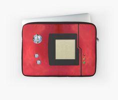 red retro pokedex Laptop Sleeves #case #cover #laptopsleeve #laptop #gameboy #gamecube #gamecontroller #nintendo #sega #playstation #ps #ps1 #ps2 #ps3 #ps4 #retro #vintage #Pokemon #pokeball #pikachu #gengar #pokedex #monster #duelmonster #cartoon