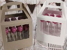 Cake Pop Boxes,great site for baking packaging!