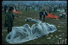 Groovy Color Images of Hippies at Woodstock 1969 put you Right There in the Mud