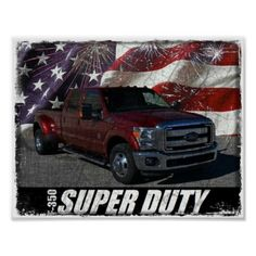 2013 F-350 Super Duty SuperCrew Lariat Dually Poster