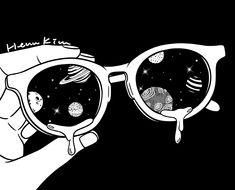 Starry Eyed iPhone Skin by Henn Kim - iPhone 8 Black And White Art Drawing, Black And White Sketches, Black White Art, Black And White Illustration, Black And White Pictures, Henn Kim, Space Illustration, Black Space, White Pen