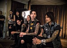 Black Veil Brides at the Black Veil Brides BVB IV listening party
