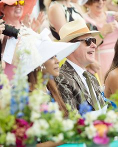 Ladies Day. Carson Kressley, judge of the Devon hat comtest.