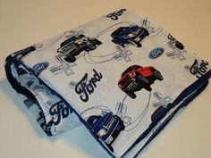 Ford Trucks BABY SECURITY BLANKET.  Minky And by AuntBsBonnets, $23.00