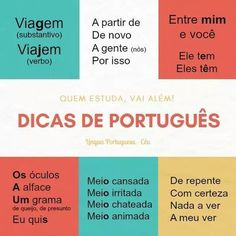 A língua portuguesa falada no Brasil. #portugueselessons #learnportuguese