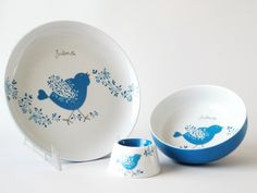 carolina leon firrell: vaisselle bébé personnalisée