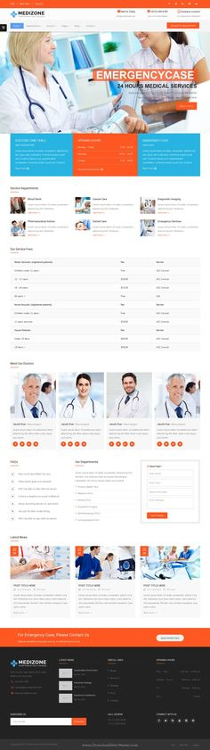 Medizone is beautiful #Responsive HTML5 Bootstrap Template for Health care & #Medical related #website. Download Now!