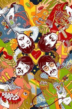 Beatlemaníaca desde eu ainda me surpreendo com fotos incríveis dos Beatles [e que eu NUNCA tinha visto na vida]. Beatlemaniac since I am still surprised by incredible pictures of the Beatles [and that I had NEVER seen in my life]. Les Beatles, Beatles Art, Beatles Poster, Beatles Love, Beatles Photos, Psychedelic Art, John Lenon, Psy Art, Lonely Heart