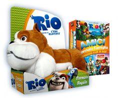 Cofanetto Rio, Alvin Superstar 2, l'Era Glaciale 3 (3 DVD + Peluche Luiz).