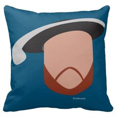 Hello History's Henry VIII 16x16 square pillow.