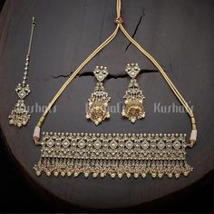Designer antique necklace studded with synthetic white stones and pearls, plated with mehndi polish and made of copper alloy! Antique Necklace, Gold Necklace, Necklace Online, White Stone, Necklace Designs, Indian Jewelry, Mehndi, Plating, Stones