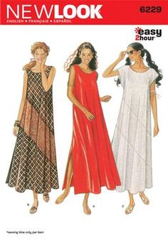 Womens Dresses Pattern 6229 New Look Patterns