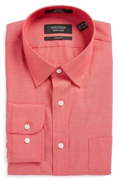 Nordstrom Men's Shop Trim Fit Non-Iron Dress Shirt