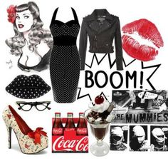 A little bad girl rockabilly Rockabilly Style, Rockabilly Makeup, Rockabilly Outfits, Rockabilly Fashion, Retro Fashion, Vintage Fashion, Rockabilly Rebel, 50s Makeup, Crazy Makeup