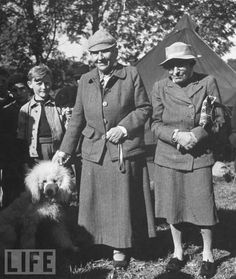 Gertrude Stein, Alice Toklas, Basket the poodle, and unidentified neighbor