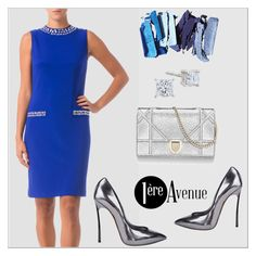 """""""Joseph Ribkoff dress"""" by premiereavenue-boutique ❤ liked on Polyvore featuring Casadei, premiereavenue, premiereavenueboutique and JosephRibkoff"""
