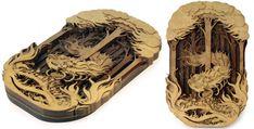 Ilustraciones realizadas con madera cortada con láser