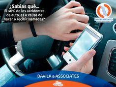 Nos preocupamos por ti y tu seguridad. Evita el uso del teléfono móvil. #seguridad #coche #segurosdavila #contigo #mexico