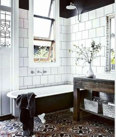Holy Moly!  The most beautiful pictures are on pintetest without the most beautiful scources... . If anyone knows who this gorgeousness belongs to... let me know so I can tag! Happy Friday friends!!. . . .#bathroom #neutralbathroom #bathroominspiration #b