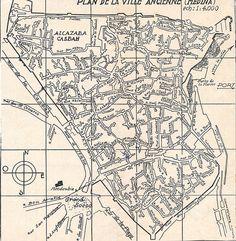 Mapa antiguo de la medina de Tanger   por jotunbani