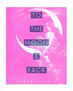 To the Moon & Back Pink Goddess Gamma Phi Beta Gamma Phi Beta, Wall Art Prints, Greek, Pink, Store, Larger, Pink Hair, Greece, Roses